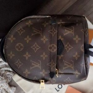 Authe Louis Vuitton mini Palm Springs Backpack NWT